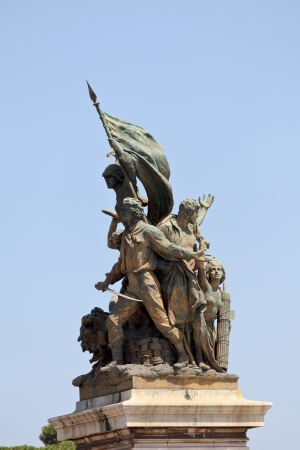 Monument  Vittorio Emanuele II on the the Piazza Venezia in Rome, Italy photo