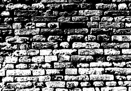 Grunge white and black brick wall background.