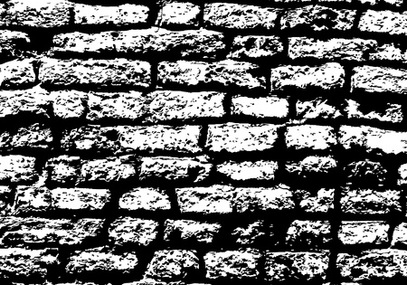Grunge white and black brick wall background.  Stock Vector - 14791851