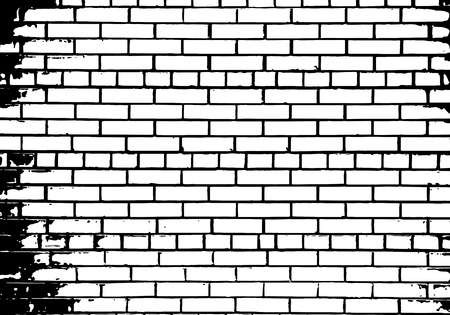 Grunge white and black brick wall background. Stock Vector - 14791866