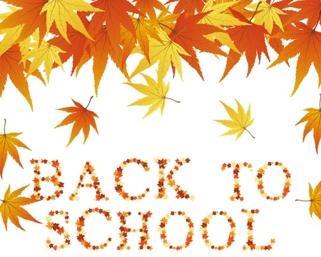 Back to school theme background.  Vector