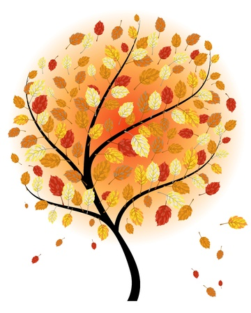 Autumn maples falling leaves background. Stock Vector - 14853742