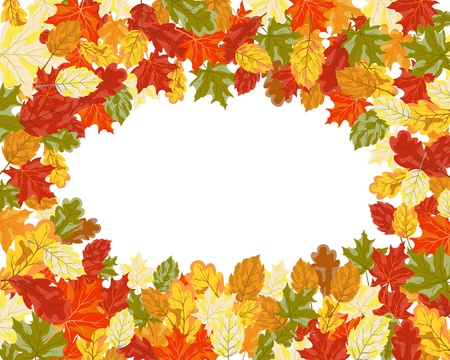 Autumn maples falling leaves background.  Vector