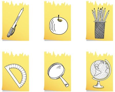 Set of educational school icon.  Vector
