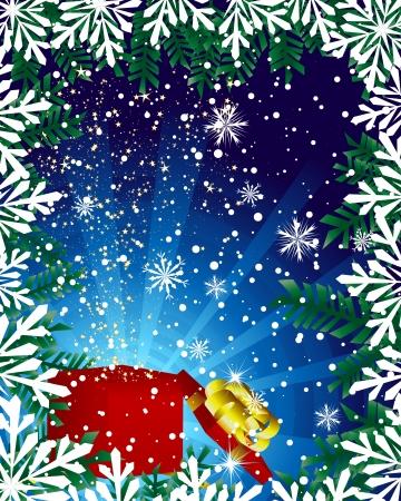 Beautiful Christmas (New Year) card.  Vector