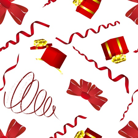 Seamless christmas and new year elements background.  Vector