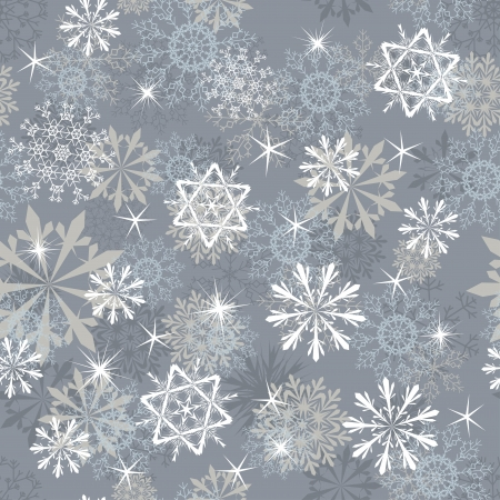 Seamless snowflakes background for winter and christmas theme. Stock Vector - 14853828