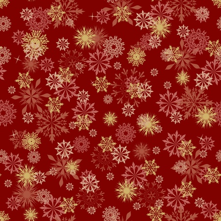 snow crystal: Seamless snowflakes background for winter and christmas theme.  Illustration