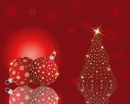 boule de neige: Beau Noël (Nouvel An) de la carte. Vector illustration.