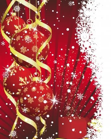 Beautiful Christmas (New Year) card. Vector illustration. Stock Vector - 14898969