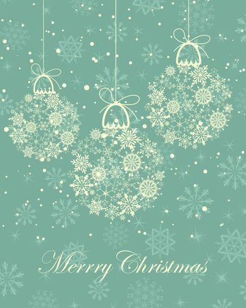 Beautiful Christmas (New Year) card. illustration. Vector