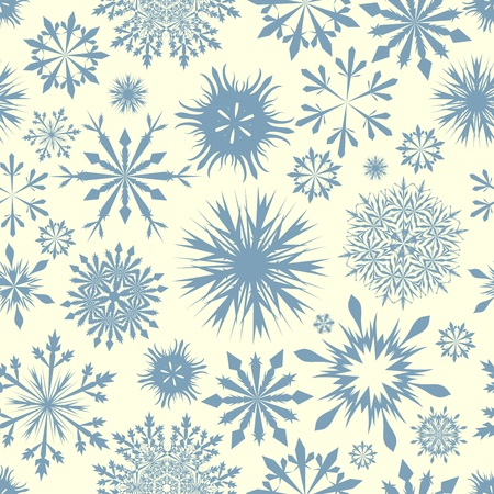 Seamless snowflakes background for winter and christmas theme. illustration. Stock Vector - 14898924
