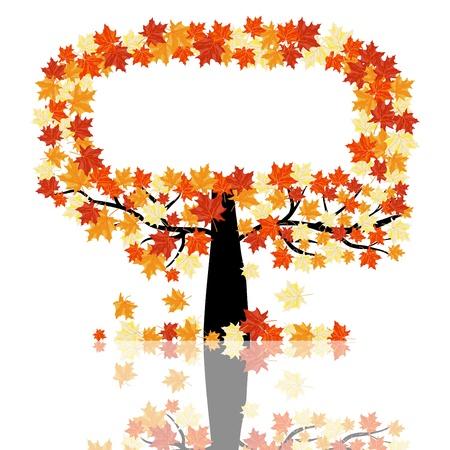 Autumn maples falling leaves background. illustration. Stock Vector - 14899219