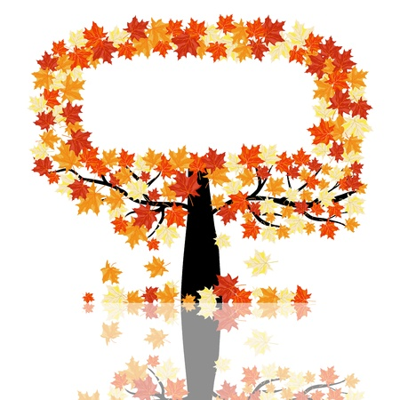 Autumn maples falling leaves background. illustration. Stock Vector - 14899219
