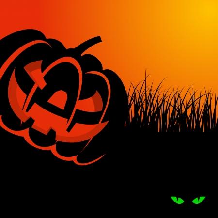 Happy halloween theme greeting card. illustration. Stock Vector - 14899176