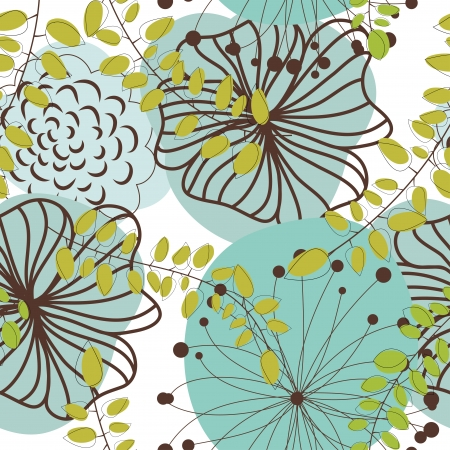 Seamless floral pattern. For easy making seamless pattern just drag all group into swatches bar, and use it for filling any contours. Stock Vector - 14970433