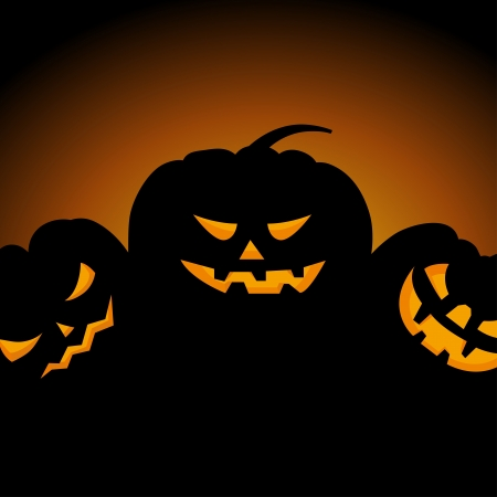 Happy halloween theme greeting card. illustration. Stock Vector - 14970427
