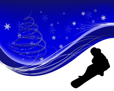 Sport background with snowboard athlete. illustration. Vector