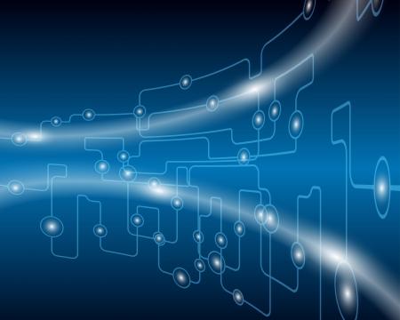 circuitos electronicos: Background.illustration Tecnol�gico azul con transparencia