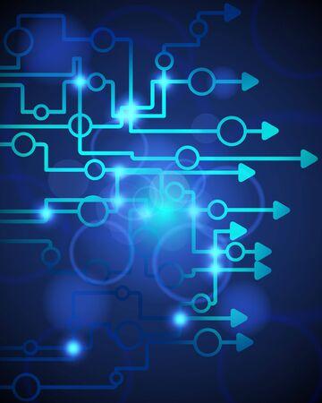 Technological blue background.illustration with transparency  Illustration