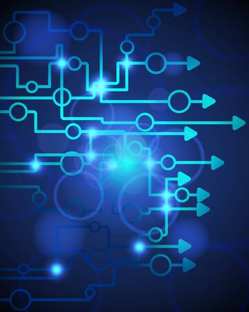 electronic elements: Tecnologica background.illustration blu con trasparenza