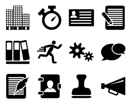Office and bussiness icon set. illustration. Stock Vector - 15166040