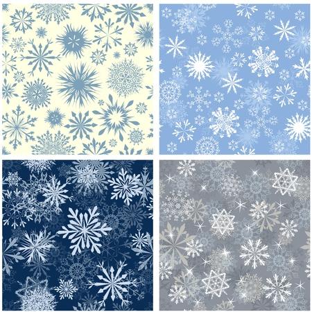 winter wallpaper: Copos de nieve de fondo sin fisuras para el invierno y el tema de la Navidad. ilustraci�n.