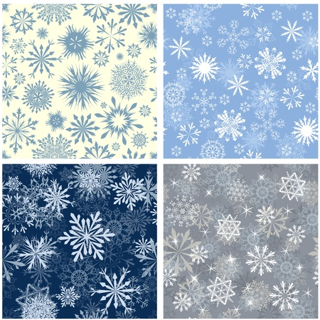 Seamless snowflakes background for winter and christmas theme. illustration. Stock Vector - 15307644