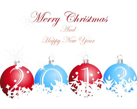Christmas and New Year background. illustration Vector