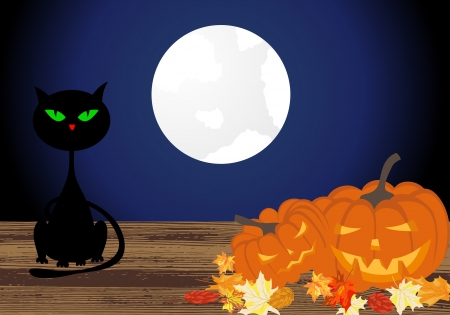 Happy halloween theme greeting card. illustration. Vector