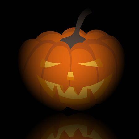 Happy halloween theme greeting card. illustration. Stock Vector - 15315333