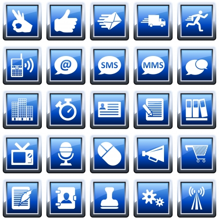 Office and communication icon set. illustration. Stock Vector - 15315366