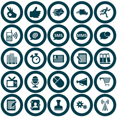 communication icons: Office and communication icon set. illustration. Illustration