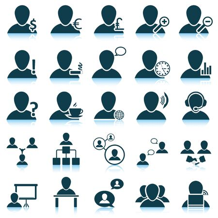 chat icons: Office and people icon set. Vector illustration. Illustration