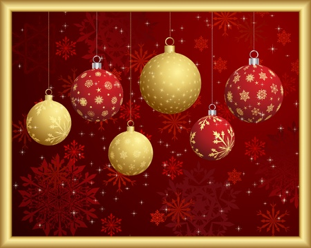 Christmas and New Year background Stock Vector - 15548060