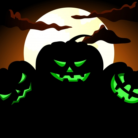 Happy halloween theme greeting card Stock Vector - 15548074
