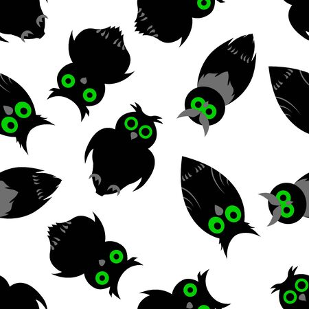 Happy halloween night seamless background. illustration. Vector