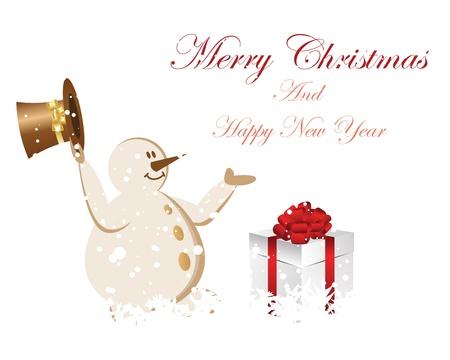 bolas de nieve: Hermosa Navidad (A�o Nuevo) de la tarjeta. illustration.illustration
