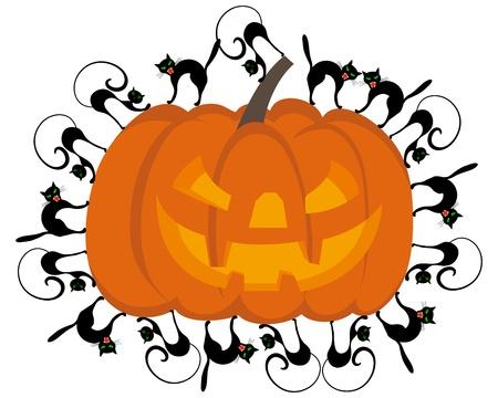 31: Happy halloween theme greeting card. illustration. Illustration