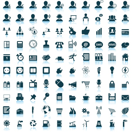 email icon: Business and office set of different web icons