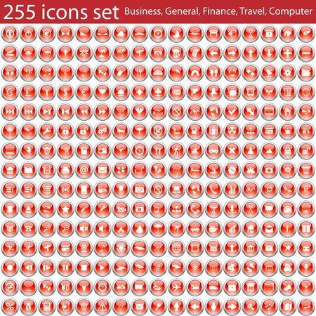 biggest: Biggest collection of different icons. Vector illustration.