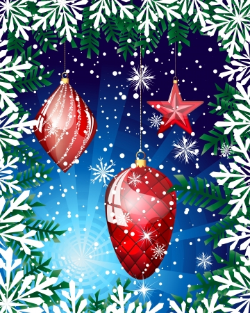 Beautiful Christmas (New Year) card. illustration.illustration with transparency Stock Vector - 16035020