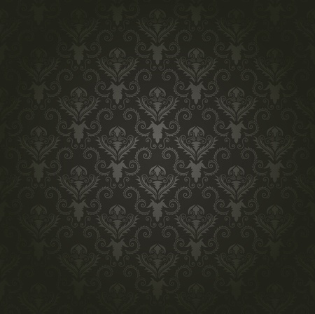Damask seamless pattern.  For easy making seamless pattern just drag all group into swatches bar, and use it for filling any contours. Stock Vector - 16035001