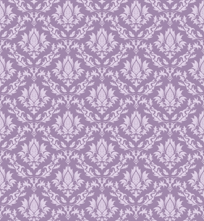 Damask seamless pattern.  For easy making seamless pattern just drag all group into swatches bar, and use it for filling any contours. Stock Vector - 16034999