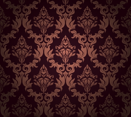 renaissance art: Damask seamless pattern.  For easy making seamless pattern just drag all group into swatches bar, and use it for filling any contours.