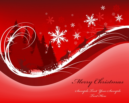 Beautiful Christmas (New Year) card. illustration Stock Vector - 16082725