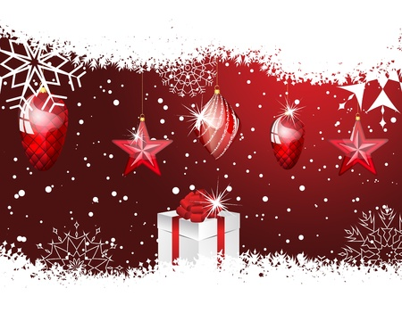 Beautiful Christmas (New Year) card. illustration with transparency Stock Vector - 16082764