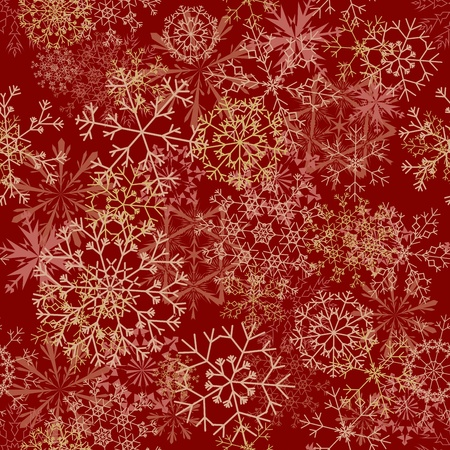 Seamless snowflakes background for winter and christmas theme. illustration. Stock Vector - 16082720