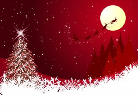 boule de neige: Beau No�l (Nouvel An) de la carte. Illustration