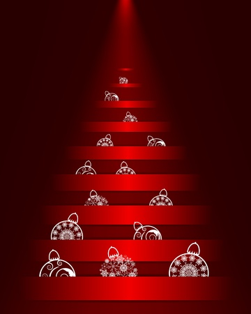 Christmas (New Year) background. Vector